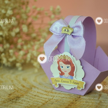 Cestinha Princesa Sofia Luxo Lembrancinha
