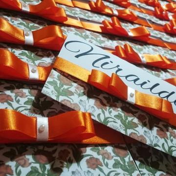 Convite de Aniversario - Laranja