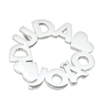 Mandala Nomes Coração   Prata