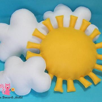 Kit Sol e Nuvens em feltro