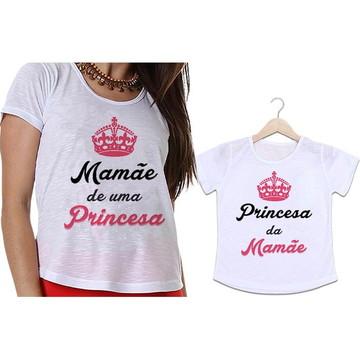 Camisetas Mãe e Filha Princesa Coroa