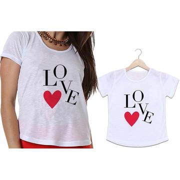 Camisetas Mãe e Filha LOVE