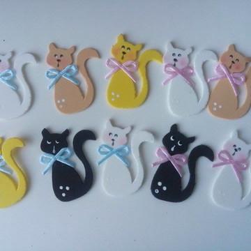 Apliques gatinho miniaturas