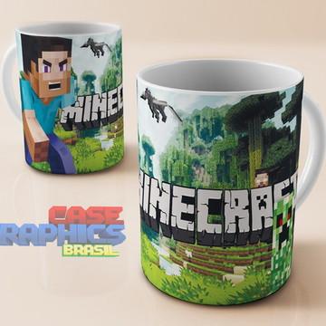 Caneca Minecraft Steve Zumbi Jogo Personagem Cubo Porcelana