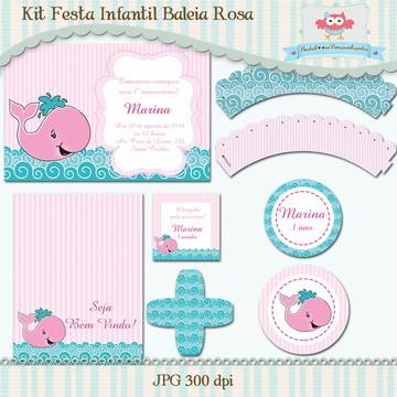 Kit Festa Infantil Baleia I