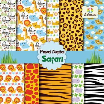 Kit c/ 10 - Papel Digital - Safari 1