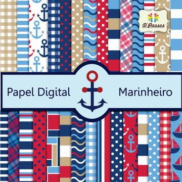 Kit c/ 30 - Papel Digital - Marinheiro 01