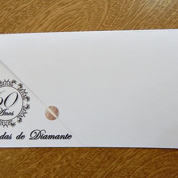 CONVITE BODAS DE DIAMANTE IBIZA PRETO