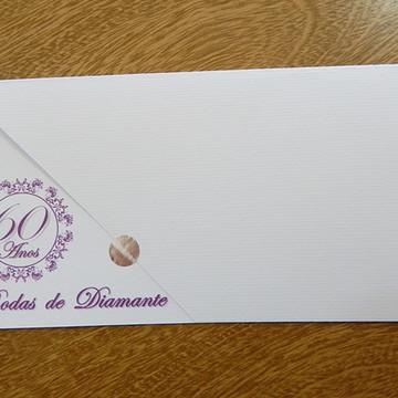 CONVITE BODAS DE DIAMANTE IBIZA ROXO