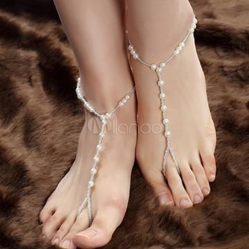 Sandálias Barefoot Descalça Pérolas