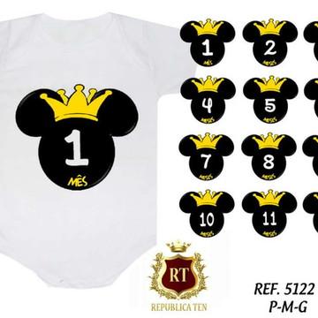 Mesversario Cabeça Do Mickey Com Coroa