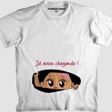 Camisa JÁ ESTOU CHEGANDO - BEBÊ NEGRA