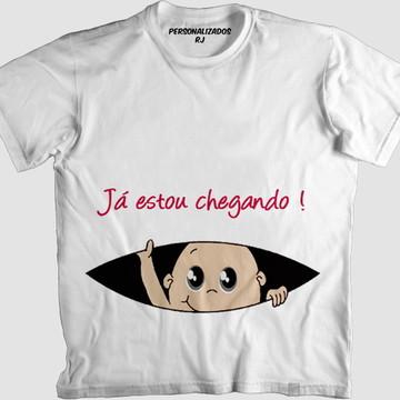Camisa JÁ ESTOU CHEGANDO - BEBÊ BRANCO