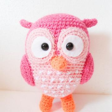 Amigurumi Coruja Rosa 2.0 (Owl Gurumi)