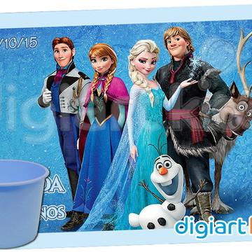 Adesivo para Baldinho de Pipoca Frozen