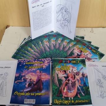 Revistinha para colorir - Rapunzel/Enrolados