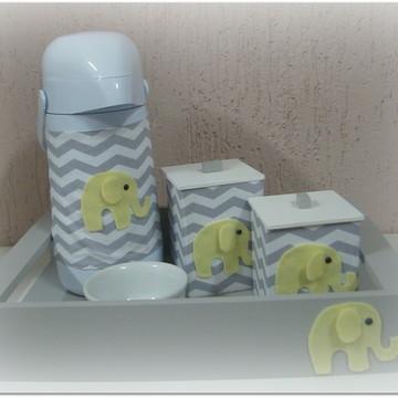 kit higiene -chevron elefante