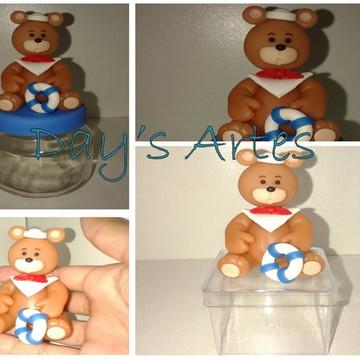 Lembrancinhas de Biscuit Urso Marinheiro
