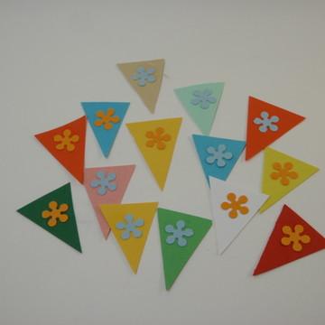 Aplique bandeirinhas Festa Junina
