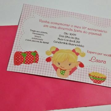 Convite festa Festa do pijama
