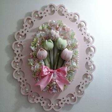 Quadro para quarto infantil flores