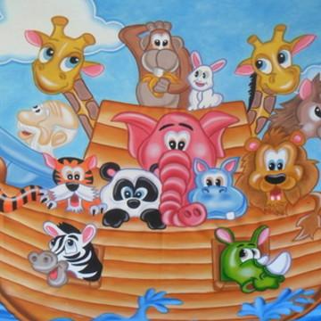 Painel a arca de noé 2,00 x 1,00