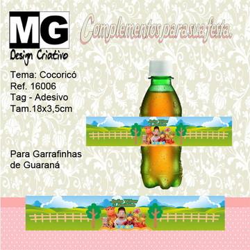 Ref.16006 -Tag. Adesivo Guarana Cocoricó