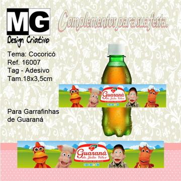 Ref.16007 -Tag. Adesivo Guarana Cocoricó