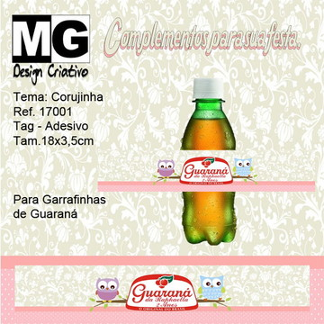Ref.17001-Tag. Adesivo Guarana Corujinha