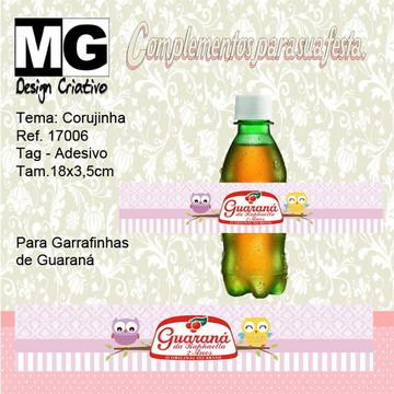 Ref.17006-Tag. Adesivo Guarana Corujinha