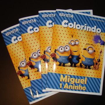 Livrinho para colorir Minions