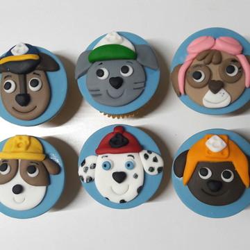 Mini cupcake Patrulha Canina