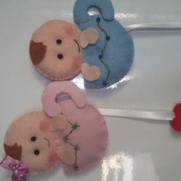 Lembrança Chá de Bebê em Feltro - Imã
