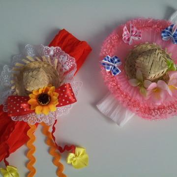 Headband Festa Junina Bebê