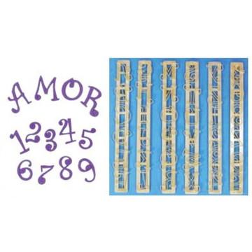 Cortadores Alfabeto e Números Divertidos