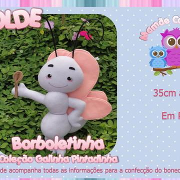Molde Borboleta - Galinha Pintadinha