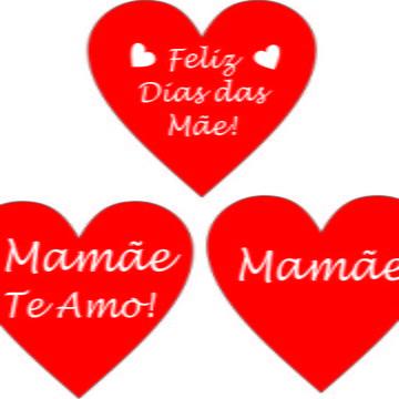 Adesivos Coração Dias das Mães