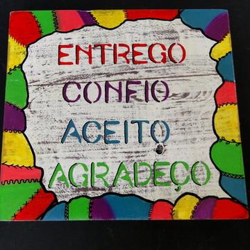 Placa Decorativa Entrego