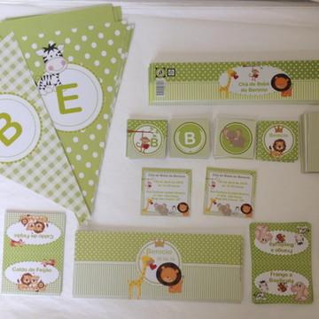 Kit Digital: Chá de bebê Safari Baby Verde 2