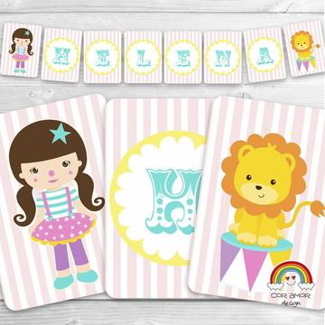 Bandeirolas Circo Menina