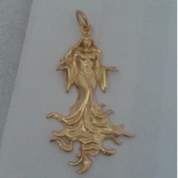 Pingente Iemanja em prata banhado ouro