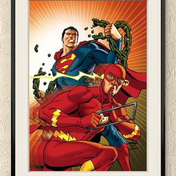 Quadro Super Herois A3