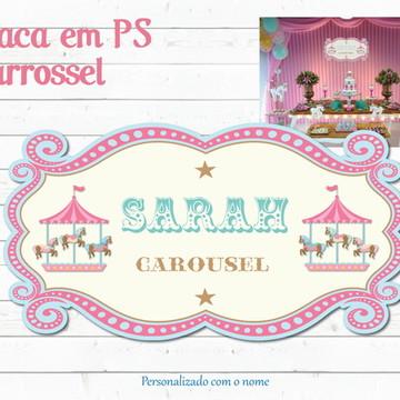 Carrossel Placa Painel de Parede FESTA