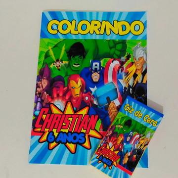Kit colorir Vingadores