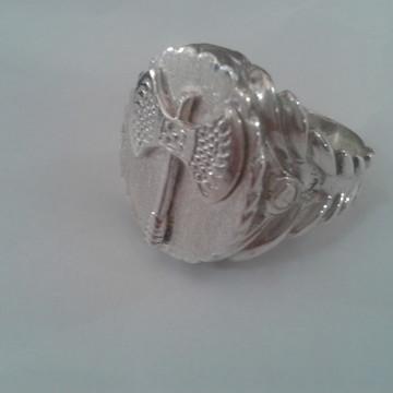 Anel Oxe de Xango em prata