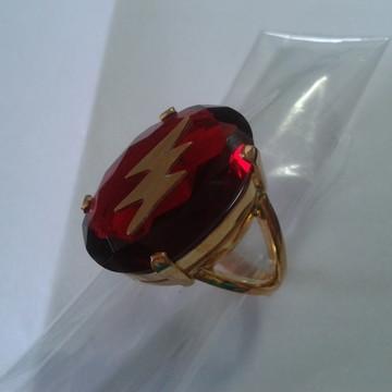 Anel Raio de Iansa com pedra vermelha