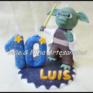Mestre Yoda+ Vela + Nome