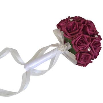 Buquê de Flores - Rosa Vinho