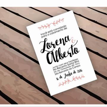Arte Convite de Casamento