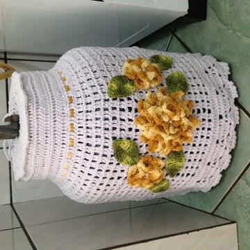 Capa para botijao de gás crochê